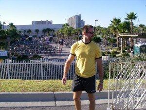 Posing at Ironman 70.3 in Florida