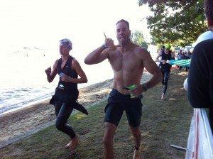 Ironman 70.3 Timberman swim finish