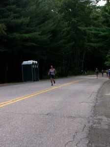 A lonely road course on the Ironman 70.3 Timberman Run