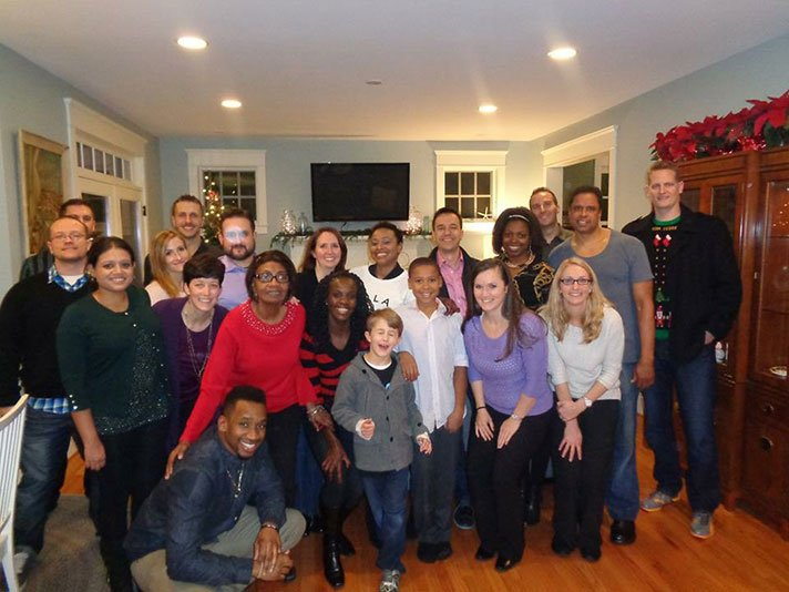 2014 holiday party photo of Capitol Rehab of Arlington staff