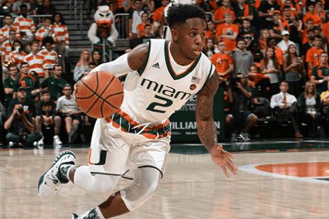 University of Miami Basketball Player Chris Lykes