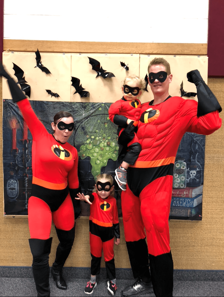 The Hatches dressed as The Incredibles.