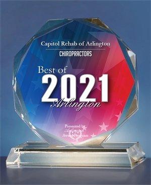 2021 Best Chiropractor in Arlington award
